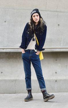 koreanmodel:  Street style: Park Ah Ryeon shot by Baek Seung Won at Seoul Fashion Week Fall 2015