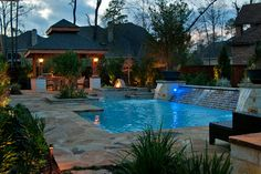 complete pool designs   Complete Outdoor Design/Build traditional pool