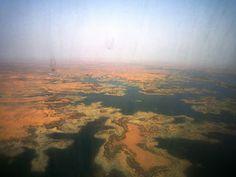 Flying into Aswan, Egypt.