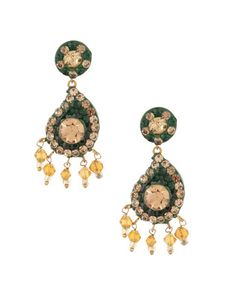 Adorable Green Lac Earrings | Rs. 330 | http://voylla.com