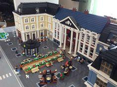 Örebro Station and city part ready for Swebrick event in Huskvarna in april and Örebro in sommer. A part of Swebrick CB Trainlandscape Lego Trains, Lego Modular, Lego Building, Lego Creations, Lego City, Legos, Lego Stuff, Doll Houses, Bricks