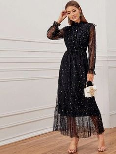 Dresses, Holiday & Going out Dresses Elegant Dresses Classy, Classy Dress, Pretty Dresses, Beautiful Dresses, Dress Outfits, Fashion Dresses, Frack, Lace Maxi, Collar Dress