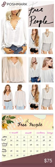 """Free People Against All Odds Top.  NWT. Free People Against All Odds Top, 64% rayon, 22% cotton, 11% polyester, 3% metallic, machine washable, 23.5"""" armpit to armpit (47"""" all around), 16"""" arm inseam, 25"""" length, oversized, sheer blouse features silver metallic stripes, plunging V neckline, metal grommet detailing, long sleeves and gathered elastic cuffs, measurements are approx.  NO TRADES Free People Tops"""