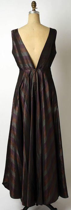 Evening dress Elizabeth Hawes  (American, 1903–1971)   Date: 1930s Culture: American Medium: silk. Back