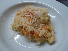 Kürbis-Risotto Freundlich, Cabbage, Spaghetti, Vegetables, Cooking, Ethnic Recipes, Food, Rice, Easy Meals