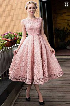 Short Prom Dresses Pink, 2018 Party Dresses Lace, Sweet A-line Homecoming Dresses,PD455882