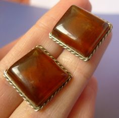 cafe591f8c20 Vintage USSR Soviet Old men jewelry Natural Cognac Baltic Amber gems  CUFFLINKS Cuff Links 9g by