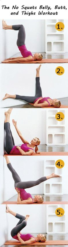 The No Squats Belly, Butt, and Thighs Workout .