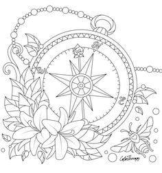 Tattoo Design Coloring Pages Free Adult Coloring, Adult Coloring Book Pages, Printable Adult Coloring Pages, Flower Coloring Pages, Mandala Coloring Pages, Coloring Pages To Print, Colouring Pages, Coloring Sheets, Coloring Books