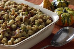 Creamy Wild Rice Stuffing Recipe │This delicious home-style dish is a great side to any Thanksgiving spread!