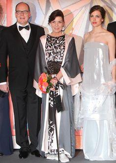 Prince Albert II of Monaco, Princess Caroline of Hanover & Charlotte Casiraghi attend the Rose Ball 2014