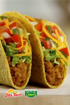 Whatever your New Year's resolution is, make tacos a part of it. Del Taco's New… Food To Go, Good Food, Food And Drink, Yummy Food, Wine Recipes, Mexican Food Recipes, Cooking Recipes, Del Taco, Taco Taco