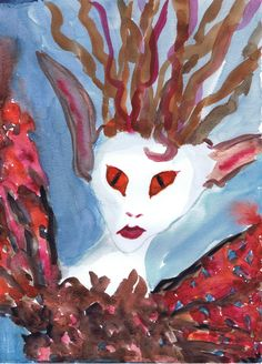 Wood Sprite  watercolor by Sharon Giles