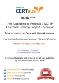 Candidate need to purchase the latest Microsoft 070-682 Dumps with latest Microsoft 070-682 Exam Questions. Here is a suggestion for you: Here you can find the latest Microsoft 070-682 New Questions in their Microsoft 070-682 PDF, Microsoft 070-682 VCE and Microsoft 070-682 braindumps. Their Microsoft 070-682 exam dumps are with the latest Microsoft 070-682 exam question. With Microsoft 070-682 pdf dumps, you will be successful. Highly recommend this Microsoft 070-682 Practice Test.