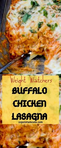 WEIGHT WATCHERS RECIPES | BUFFALO CHICKEN LASAGNA!!!