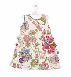 Vestido estampado volantes detrás | Aiana Larocca Moda Infantil