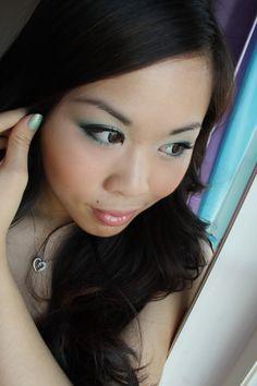 Forest green eyeshadow