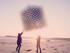 "The ""Little Shining Man Kite"" is constructed using 1,700 3D printed connectors, carbon fibre rods and cuben fibre aerospace fabric, and was conceived by Heather Peak and Ivan Morison. Watch the video after the jump to see it in action."