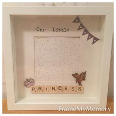 Personalised Handmade Our Little Princess by FrameMyMemory on Etsy
