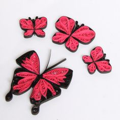 Tutorial for Paper Quilled Butterfly Earrings and Pendants PDF. $4.50, via Etsy.