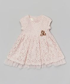 Pink Lace Pleated Dress - Infant, Toddler & Girls by Laura Ashley London #zulily #zulilyfinds