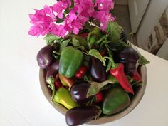 Vegetables from our organic garden at Seaside Cottage by Belvedere at Psarou Beach, Mykonos