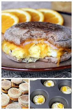 Healthy Egg McMuffin Copycats  Gonna make this with vegan tofurky bacon and vegan meatless sausage