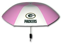 Rainmate Rainwear NFL Green Bay Packers Pink & White 42-Inch Folding Umbrella by Seven Sons. Save 13 Off!. $14.80. 42-Inch arch folding umbrella (15-Inch folded). Plastic handle, metal shaft, auto-open. Rainmate Rainwear NFL Green Bay Packers Pink & White 42-Inch Folding Umbrella