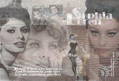 Schilderij - Sophia Loren - Loekie Grijspaardt - 120x80 cm