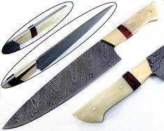 Damascus Steel Kitchen Knives, Damascus Steel Chef Knife, Damascus Chef Knives, Damascus Knife, Chef Knife Set, Knife Sets, Ulu Knife, Ceramic Non Stick, Steel Detail