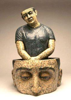 David Robinson, clay sculpture