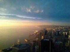 Seattle sunset tonight. 1/21/14 Photo: Michelle Choe.