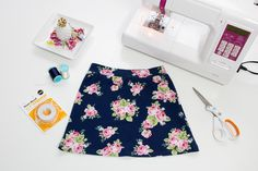 Learn how to sew matching Mommy and Me knit skirts with this free PDF printable sewing pattern. Plus learn all of my favorite tips to make sewing with knit fabric easy!