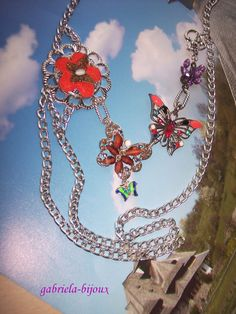 Fly, butterfly Assemblage Necklace - pinned by pin4etsy.com