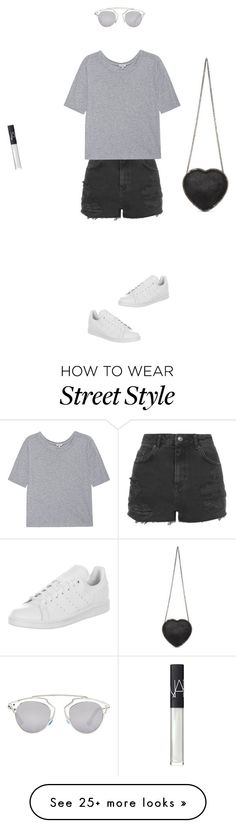 """Sydney Street Style xx"" by greenaway12 on Polyvore featuring Topshop, Splendid, adidas, STELLA McCARTNEY, Christian Dior and NARS Cosmetics"
