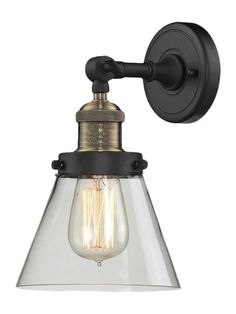 Cast Urban Wall Sconce with Glass by Innovations Lighting at Gilt