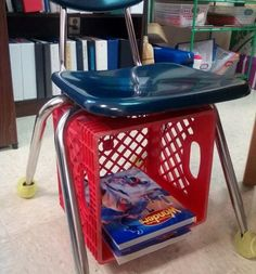 We love these creative ways to use milk crates in the classroom! Make seats, create bookshelves, build a rolling cart, and so much more. Classroom Hacks, Classroom Layout, Classroom Organisation, Classroom Supplies, Classroom Design, Preschool Classroom, Teacher Organization, Future Classroom, Classroom Decor