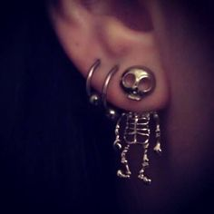 SKELETON FRONT AND BACK EARRINGS on Chiq http://www.chiq.com/skeleton-front-and-back-earrings
