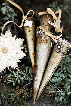 Antique Christmas Cones