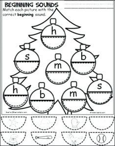 Preschool Learning, Kindergarten Worksheets, Kindergarten Classroom, Preschool Activities, Preschool Writing, Phonics Worksheets, School Worksheets, Alphabet Activities, Preschool Christmas