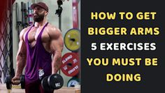 The arms are the trademark of the bodybuilder. Tell the guys that you hit the weights, and the first thing they want to see is that yo. Get Bigger Arms, How To Get Bigger, Big Arm Workout, Dumbbell Workout, Huge Biceps, Biceps And Triceps, Chest Workouts, Gym Workouts, Best Tricep Exercises