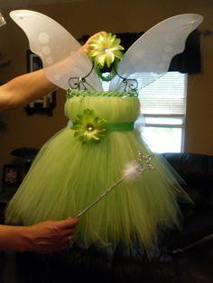 Crochet Baby Dress Sparkling Fashion: How to make Tutu dress/Princess frock Diy Tinkerbell Costume, Tinkerbell Party, Tinkerbell Outfit, Tangled Party, Costumes Avec Tutu, Baby Costumes, Halloween Costumes, Woman Costumes, Mermaid Costumes