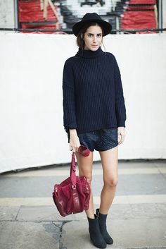 chunky knit & shorts. gets away with it. Gala in Paris. #AmLul