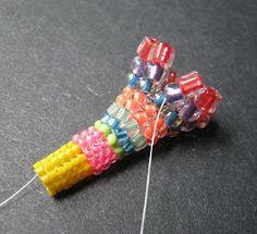Adding Cube Beads to Tubular Herringbone