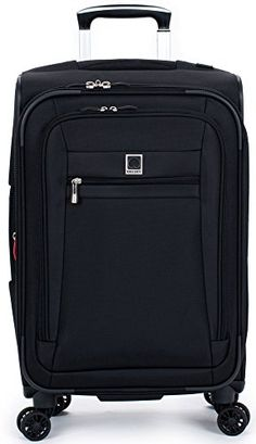 Delsey Luggage Helium Hyperlite CarryOn Expandable Spinner Trolley Black One Size *** Read more  at the image link.