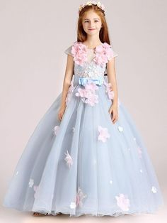 Girls Party Dress, Birthday Dresses, Little Girl Dresses, Girls Dresses, Flower Girl Dresses, Prom Dresses For Kids, Vestido Charro, Princess Ball Gowns, Princess Dress Kids