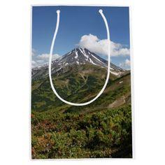 #beauty - #Beautiful summer volcano landscape medium gift bag