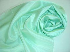 Seidenschal 180x45cm mint Pongee Schal  von Textilkreativhof auf DaWanda.com