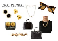 """""""TRADITIONAL"""" by expressingyourtruth ❤ liked on Polyvore featuring Ray-Ban, Carolee, Chanel, Lanvin, The Pearl Quarter, Givenchy, Santiago Gonzalez and Louis Vuitton"""