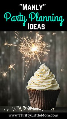Manly Party Planning Ideas.  If you are trying to plan a party for a guy in your life, this blog post if full of thrifty man party planning ideas, man party food, man party decorations and more!